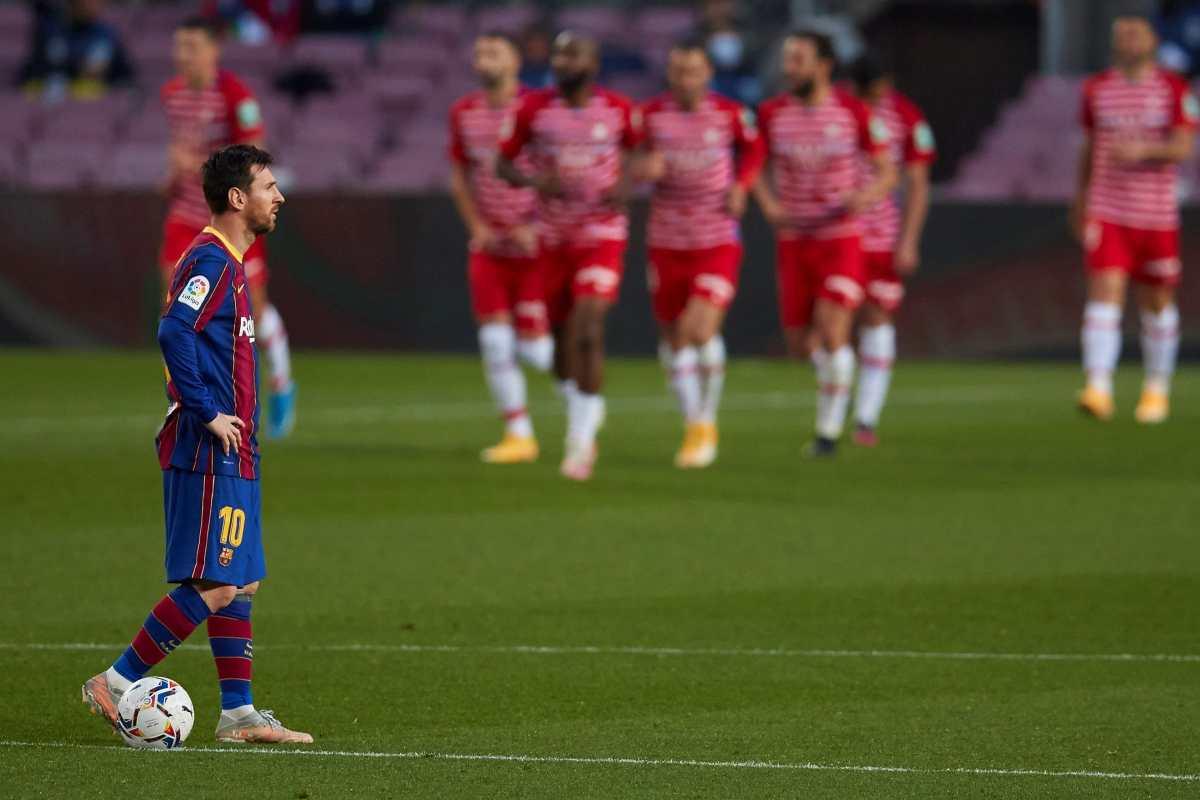 El gol de Messi no bastó; el Granada arruina la fiesta del Barsa que deja escapar el liderato