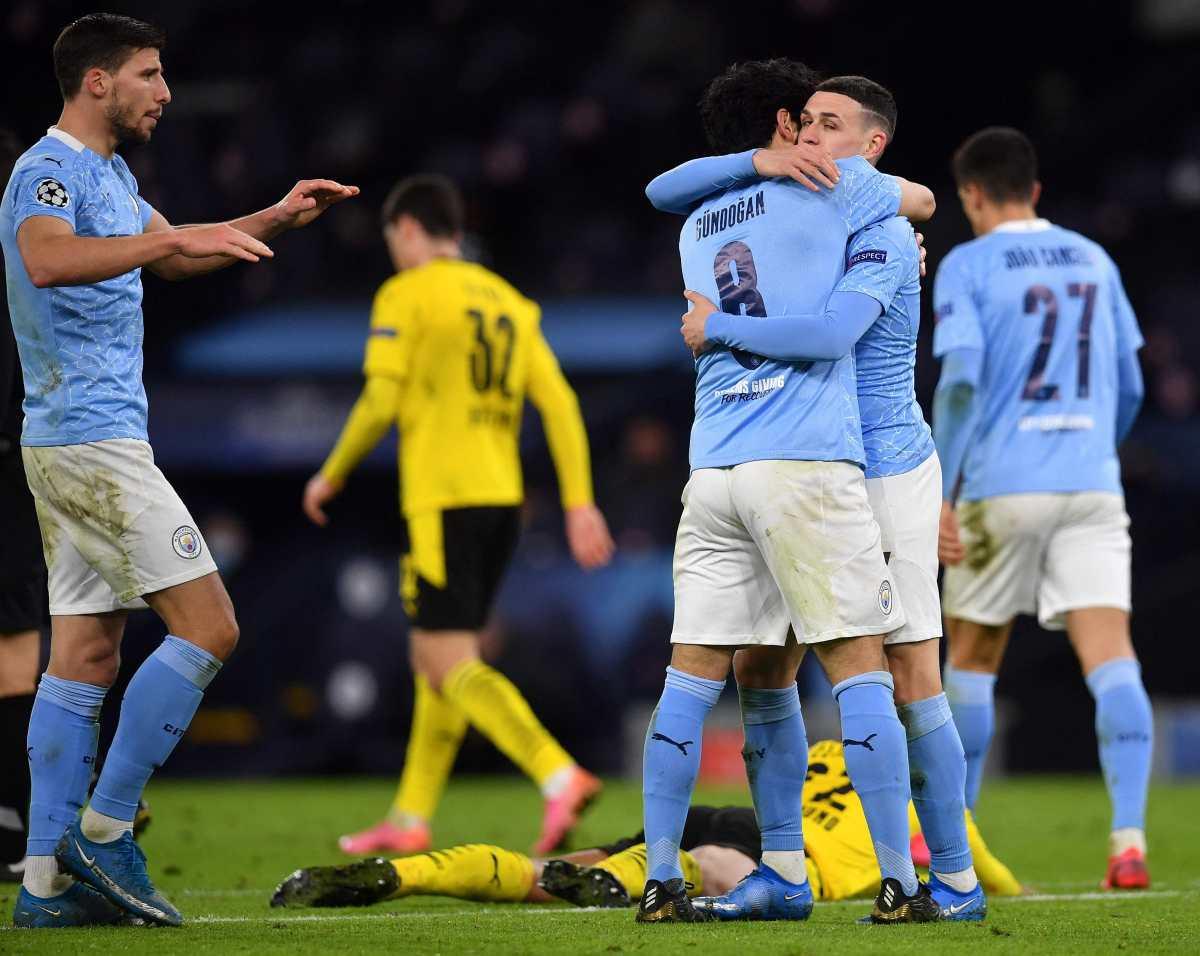 Con un gol en el minuto 90, el Manchester City toma ventaja frente al Borussia Dortmund