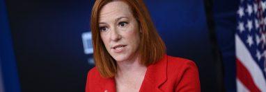 Jen Psaki, portavoz de la Casa Blanca. (Foto: AFP)