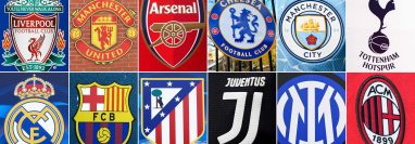 Los doce clubs fundadores de la Superliga europea. Foto: AFP