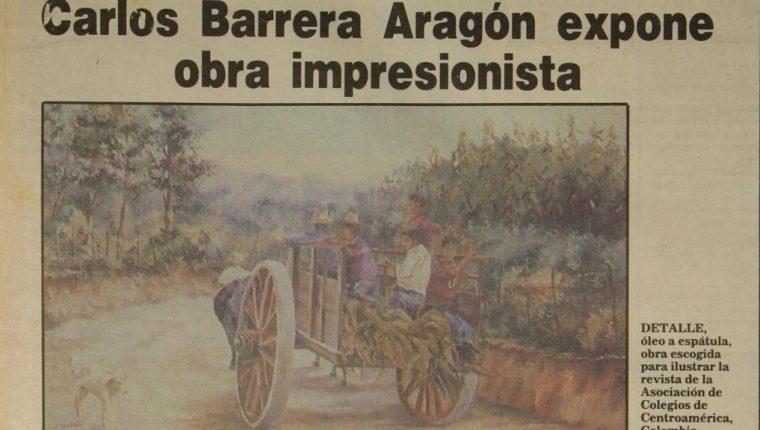El artista Carlos Barrera Aragón presentó su octava exposición individual en Expresiones Eventos Socio Culturales, zona 10. (Foto Prensa Libre: Hemeroteca PL).