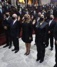 El Congreso juramentó a los magistrados que integrarán la nueva CC; sin embargo, está quedó incompleta. (Foto Prensa Libre: Congreso)