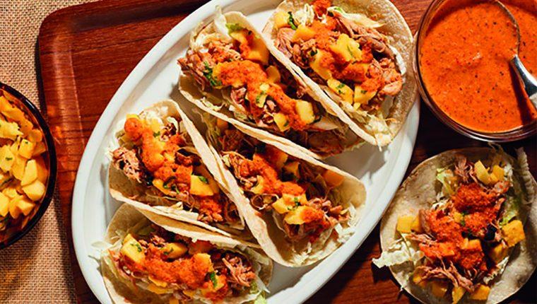 Fantásticos tacos con salsa peri-peri