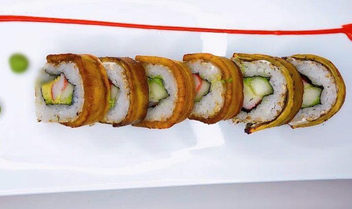 El sushi puede ser al estilo chapín