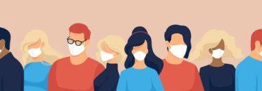 El rotro y la máscara shutterstock