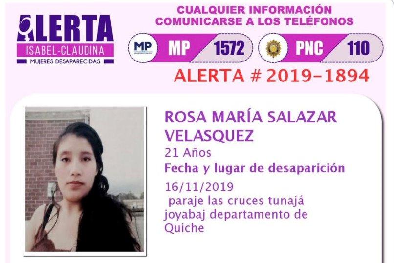 Tenía alerta Isabel-Claudina: Confirman que restos pertenecen a mujer desaparecida hace 17 meses