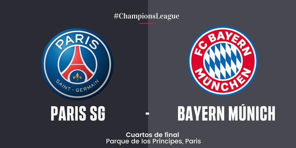 En Directo: Paris SG vs Bayern Múnich