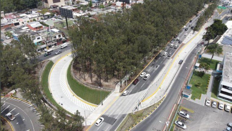 """Por el paso a desnivel """"La Marimba"""" transitan unos 85 mil vehículos diarios, según la comuna capitalina. (Foto Prensa Libre: Municipalidad de Guatemala)"""