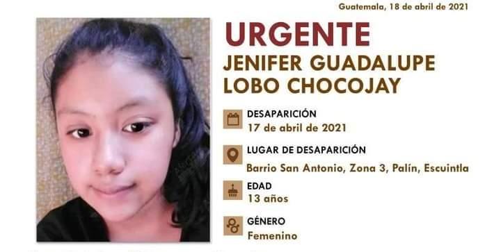 Jenifer Lobo Chocojay fue localizada sin vida.