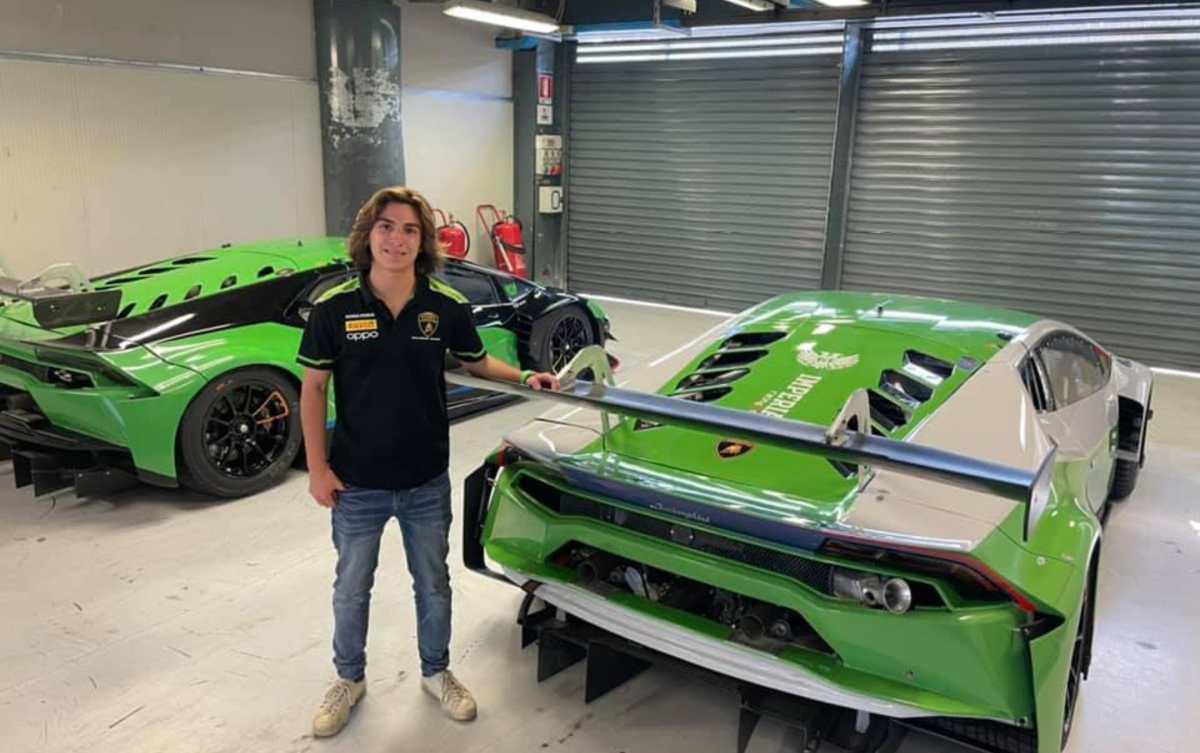 El piloto guatemalteco Mateo Llarena correrá con el equipo oficial de Lamborghini el Campeonato Italiano GT 2021