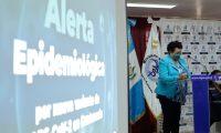 Amelia Flores, ministra de Salud Pœblica en conferencia de prensa sobre Alerta Epidemiol—gica por nueva variante de SARS -CoV-2 en Guatemala,  nueva cepa de coronavirus.       Fotograf'a  Esbin Garcia 09-04-21