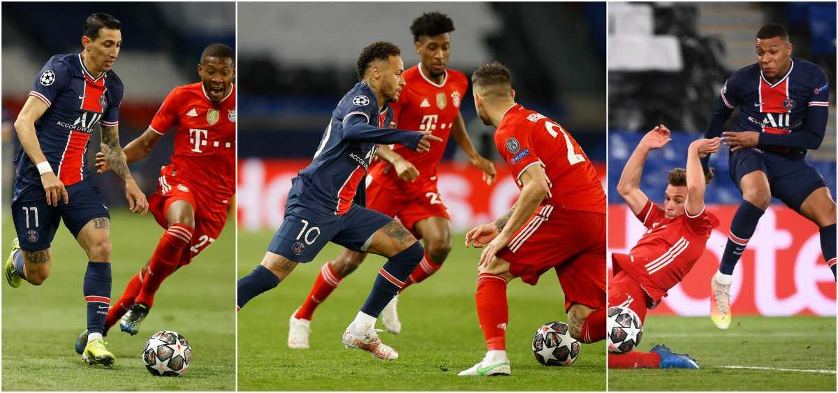 Neymar, Di María y Mbappé sufrieron, pero se divirtieron en el pase a semifinales ante el Bayern