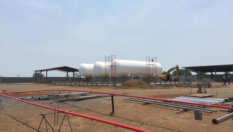 Planta envasadora de gas que se construía en Nicaragua con inversión de Tomza Guatemala. (Foto, Prensa Libre: Cortesía Fernando Carreon/Tomza Centroamérica).
