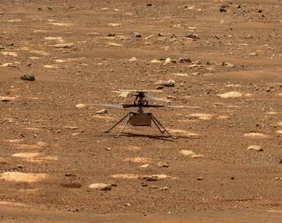 El helicóptero de la NASA está listo para su primer vuelo en Marte, este domingo