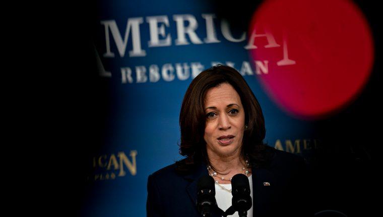 Kamala Harris asumió el cargo como vicepresidenta en enero de este año. (Foto Prensa Libre: EFE)