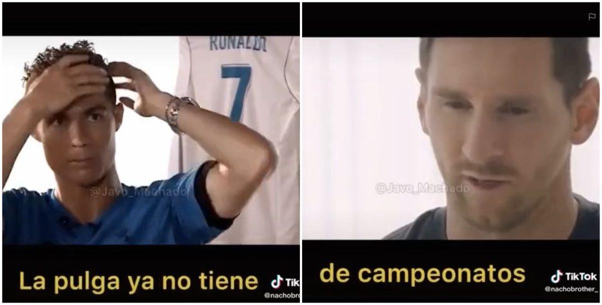 VIDEO. Cristiano Ronaldo, Leo Messi, 'la batalla de los gallos' y el internet se vuelve una locura