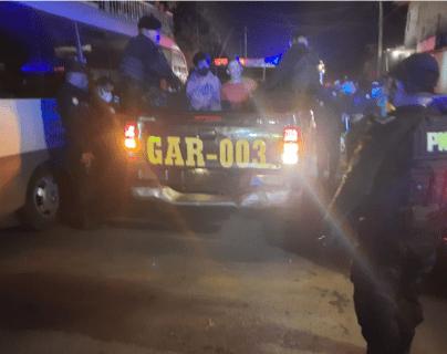 Ataque armado en Villa Nueva deja dos heridos y tres capturados