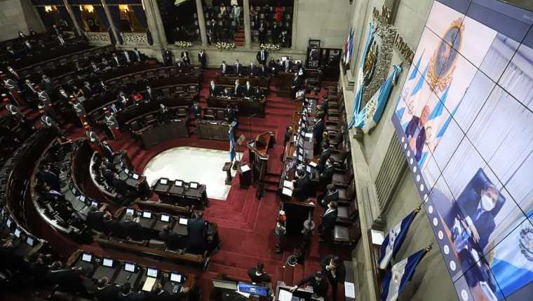 Tres magistrados no fueron juramentados en la sesión solemne del Congreso. (Foto: Congreso)