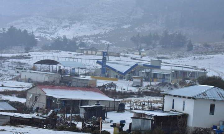 Granizada en Chiantla, Huehuetenango. (Foto: Cortesía)