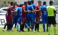 Cobán Imperial e Iztapa empataron 2-2 en la jornada 11 del torneo Clausura 2021. Foto Prensa Libre: Cortesía Andrés Nadf.
