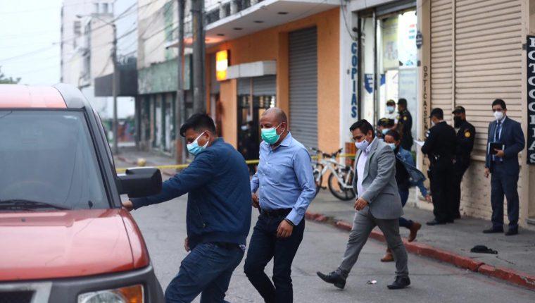 El diputado Aldo Dávila estuvo involucrado en un hecho armado en la zona 1 de la capital, del cual salió ileso. (Foto Prensa Libre: Fernando Cabrera)