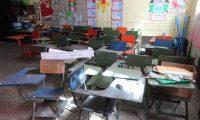 Instalaciones de la  Escuela Repœblica de Costa Rica los  est‡n los maestro se encuentran en reuniones para planificar el ciclo escolar debido a la pandemia del coronavirus las clases dan inicio el 22 de Febrero v'a virtual en las escuelas trabajaran por medio de gu'as de trabajo.   Fotografia. Erick Avila:       15/02/2021
