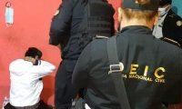 Operativos del MP y la PNC en donde se logró la captura de integrantes de la clica Little Psyco Criminal del Barrio 18. (Foto Prensa Libre: PNC)