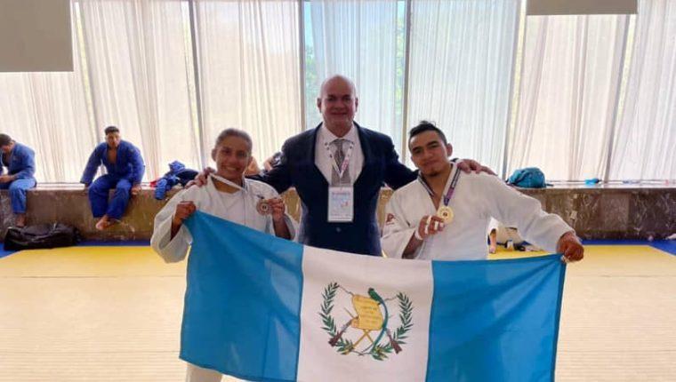 José Ramos ganó el en el Open Panamericano de judo en México, mientras que Jacqueline Solís fue bronce. (Foto COG).