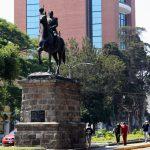 Más de 40 monumentos se encuentran entre la Avenida Reforma y Las Américas.  (Foto Prensa Libre: Elmer Vargas).