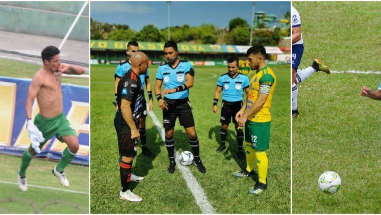 Antigua GFC, Sacachispas y Sanarate buscan salvar la categoría. Foto Prensa Libre: Andrés Nadf, Sacachispas y Sanarate FC.