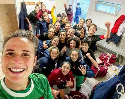 Ana Lucía Martínez convierte su noveno gol de la temporada con el Roma CF