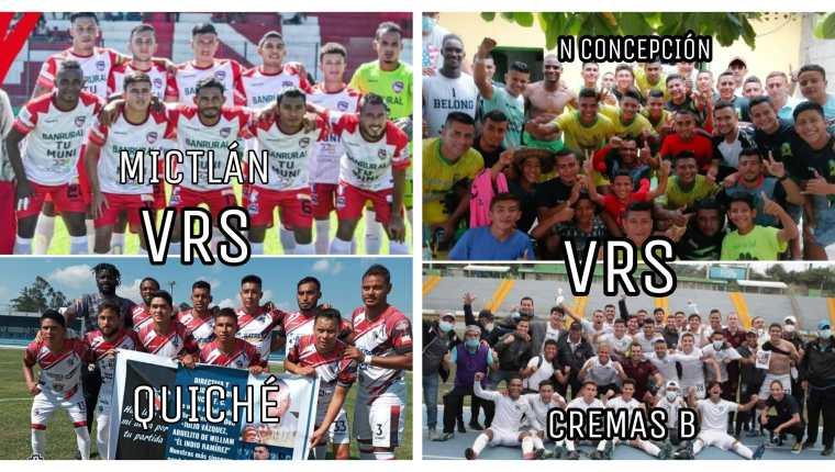 Así quedaron las llaves de semifinales de la Liga Primera División del futbol guatemalteco. (Foto Prensa Libre).