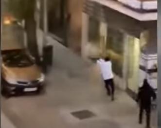 Tiroteo en Madrid queda grabado en video y la policía da a conocer su hipótesis