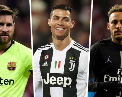 Messi, Cristiano y Neymar lideran el listado de jugadores con mayores ganancias económicas