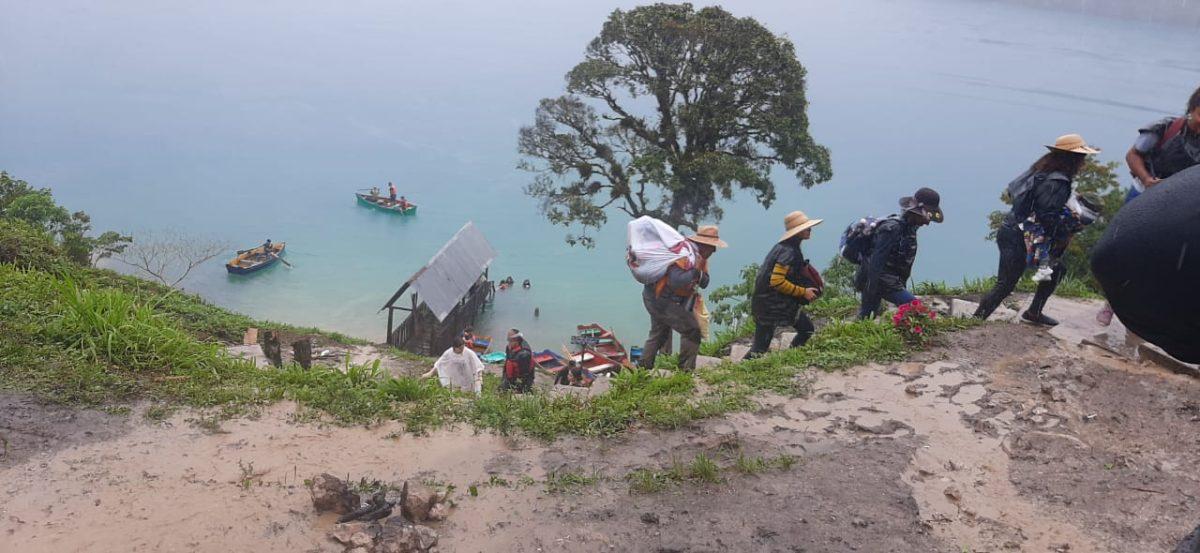 Turistas estuvieron atrapados unas 20 horas en Laguna Brava, Huehuetenango
