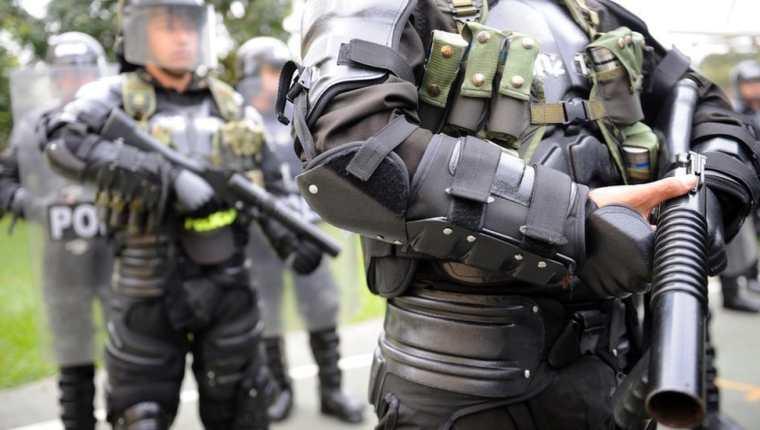 La unidad antimotines colombiana es desplegada cuando se realizan grandes protestas en ese país