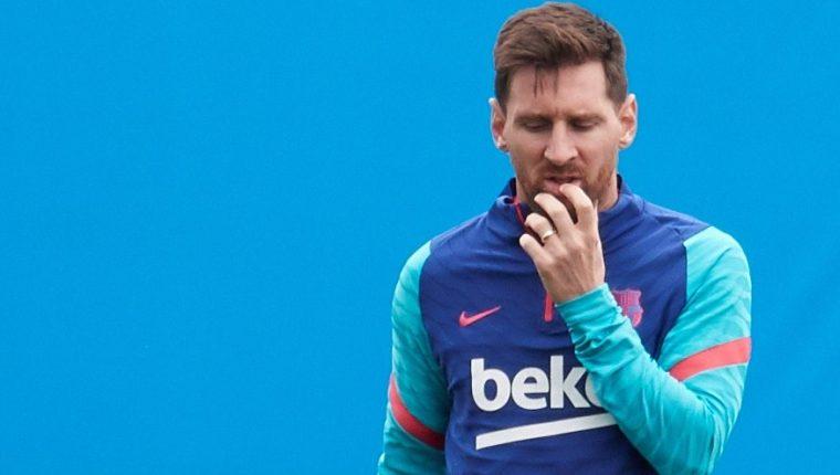 El jugador argentino del FC Barcelona Leo Messi durante un entrenamiento con el equipo azulgrana en la ciudad deportiva Joan Gamper. Archivo. Foto Prensa Libre: EFE.
