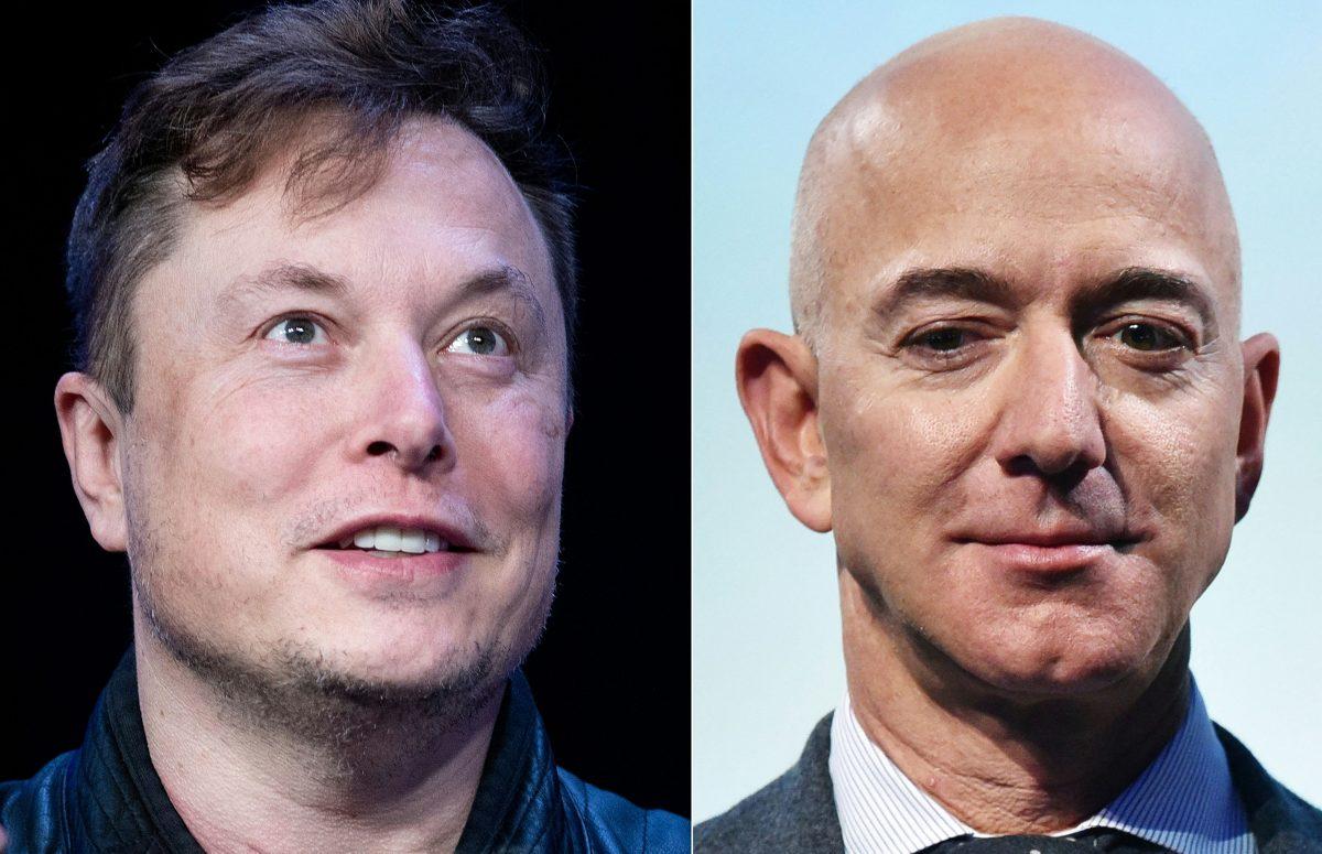 Elon Musk y Jeff Bezos, combate de jefes en el espacio