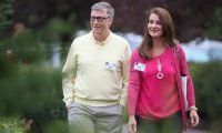 (FILES) In this file photo taken on July 11, 2015 Billionaire Bill Gates, chairman and founder of Microsoft Corp., and his wife Melinda attend the Allen & Company Sun Valley Conference in Sun Valley, Idaho. - Bill Gates, the Microsoft founder-turned philanthropist, and his wife Melinda are divorcing after a 27-year-marriage, the couple said in a joint statement Monday. The announcement from one of the world's wealthiest couples, with an estimated net worth of some $130 billion, was made on Twitter. (Photo by SCOTT OLSON / GETTY IMAGES NORTH AMERICA / AFP)