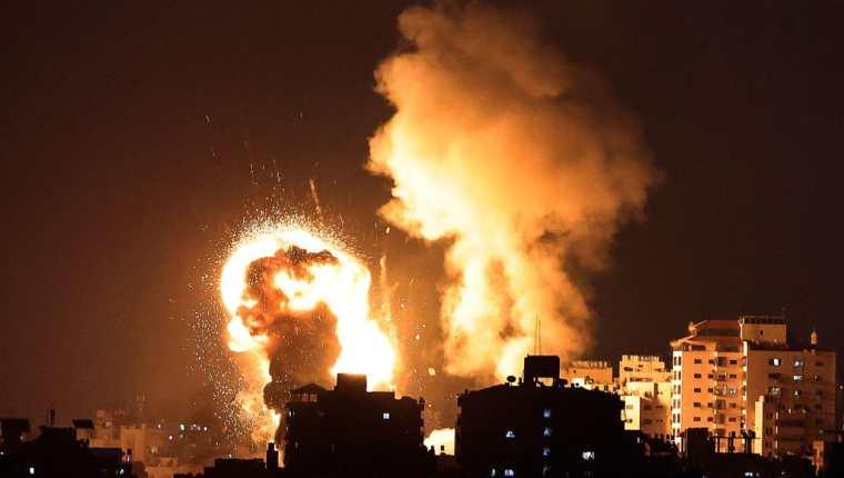La Franja de Gaza vive una tensión y violencia que no se habían dado en años. (Foto Prensa Libre: AFP)