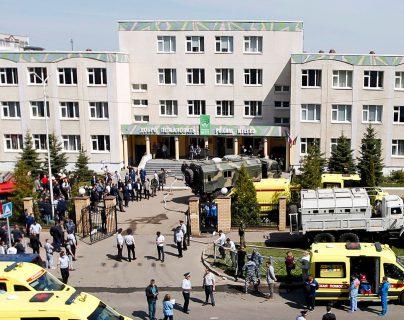 Al menos 11 estudiantes muertos y 18 heridos en un ataque armado que perpetró un hombre en una escuela en Rusia