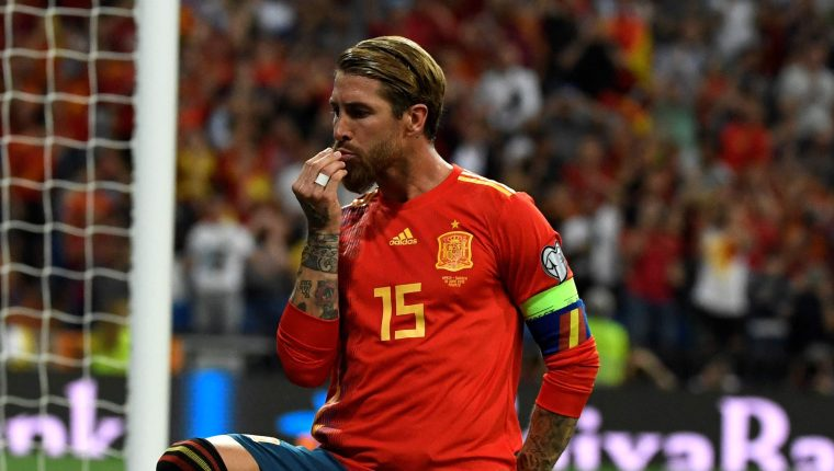 Sergio Ramos es el gran ausente en la selección española. (Foto Prensa Libre: AFP)