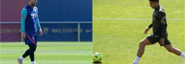 Leo Messi y Luis Suárez se reencuentran este sábado 8 de mayo en un duelo decisivo por La Liga. Foto Prensa Libre: AFP y EFE