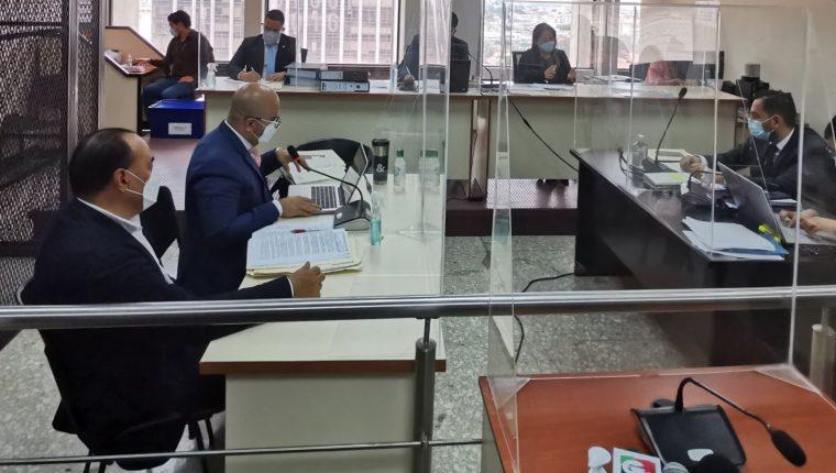 El Tribunal de Mayor Riesgo D rechaza que el empresario condenado Jaime Aparicio pague reparación digna al Estado. (Foto Prensa Libre: Edwin Pitán)