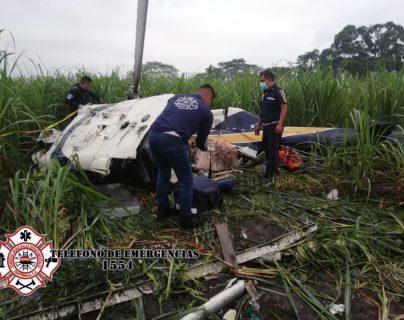 Cuatro personas mueren en un accidente de helicóptero que se desplomó en Escuintla