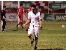 El delantero constarricense, Rafael Andrés Lezcano, anotó un gol ante Sacachispas. Foto Prensa Libre: Cortesía Club Comunicaciones.