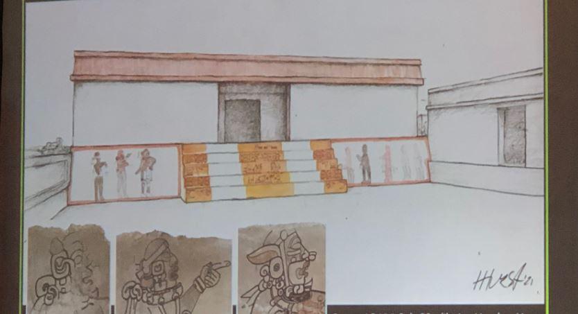 """Estos son los detalles que resaltan en el """"Mural de jugadores de pelota"""" en el Parque Nacional Tikal"""