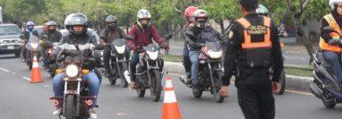 La cantidad de motos que circulan en Guatemala ha crecido de forma notable en los últimos años. (Foto HemerotecaPL) Fotograf'a Erick Avila:               18/05/2018