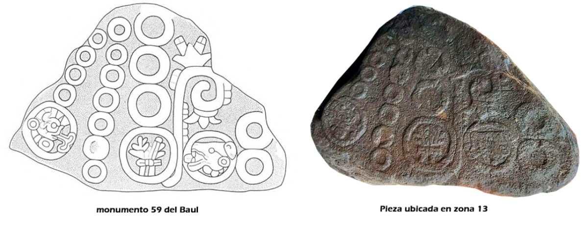 Estos son los detalles del monumento hallado en la zona 13 el cual fue sustraído de su lugar de origen