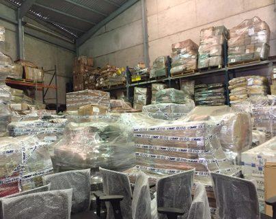 Esta es la mercancía que hay en  las bodegas de la SAT por decomisos y abandonos